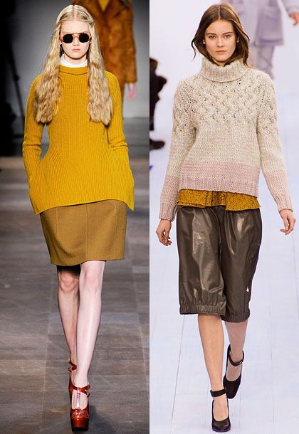 """We cannot forget about knits. There was an abundance of great knits this season, from Chloé to Céline to Carven. There are so many to choose from this fall."" <b>Must-have</b>: Chloé knit (right)."