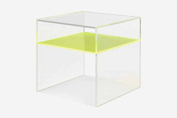 MEELANO 56-GRN Side Table, One Size, Green