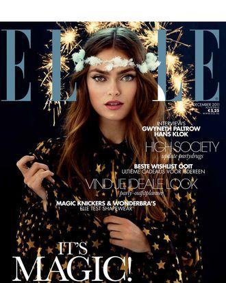 <em>Elle</em> Netherlands's December 2011 cover.