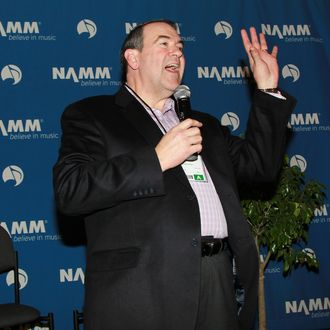 ANAHEIM, CA - JANUARY 12: Former Governor of Arkansas Mike Huckabee attends the 2011 NAMM Show - Day 1 at the Anaheim Convention Center on January 12, 2011 in Anaheim, California. (Photo by David Livingston/Getty Images for NAMM) *** Local Caption *** Mike Huckabee
