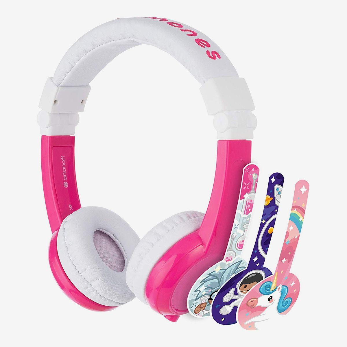Blue Kids Headphones Children Girls Boys Teens Volume Limiting Foldable and Durable Headphone Headband for School Home and Travel