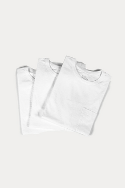 FGS heavyweight white T-shirt with a pocket