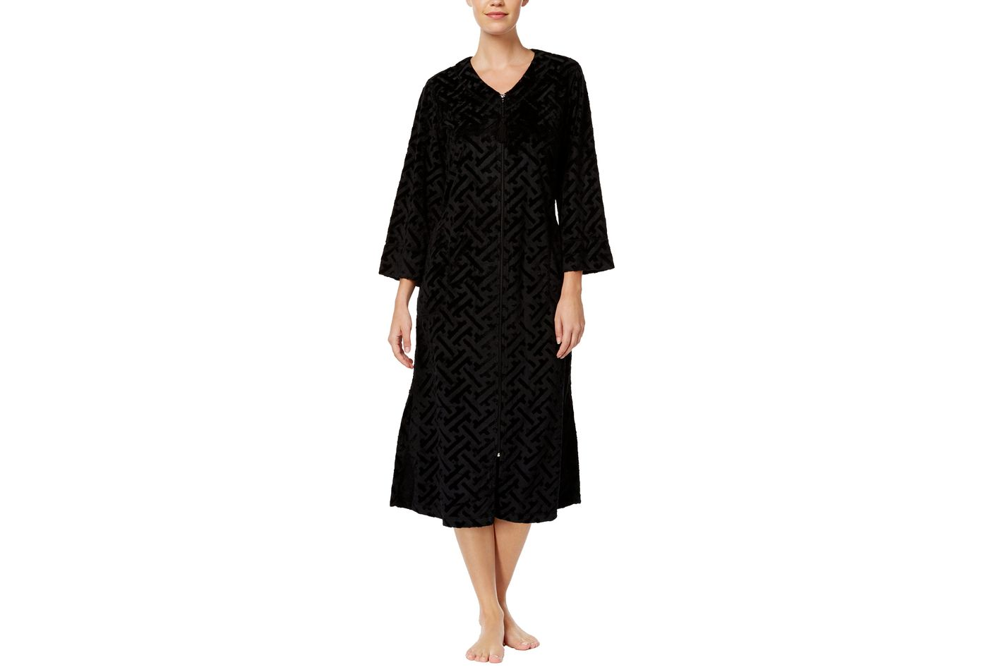 Miss Elaine Embossed-Velour Robe