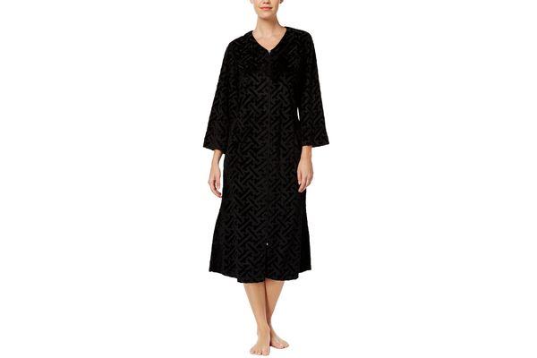 Miss Elaine Embossed-Velour Robe