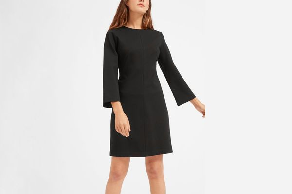 Everlane The Long Sleeve Shift Dress