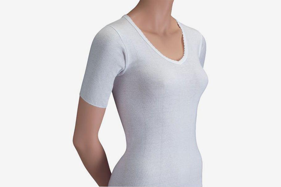 Short Sleeve V-neck Undershirts, Package of 3