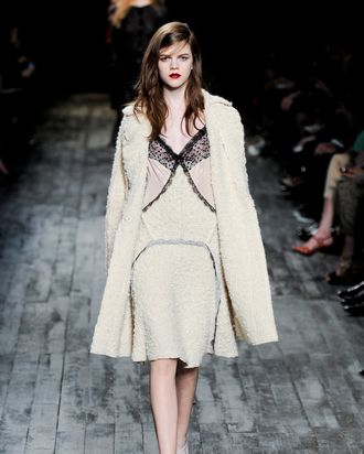A lacy, lingerie-inspired look Larocca spied at Nina Ricci
