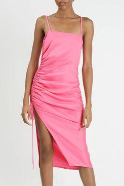 Side Ruched Flamingo Dress