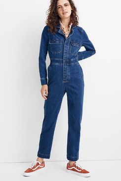Madewell Denim Slim Coverall Jumpsuit in Stanwick Wash