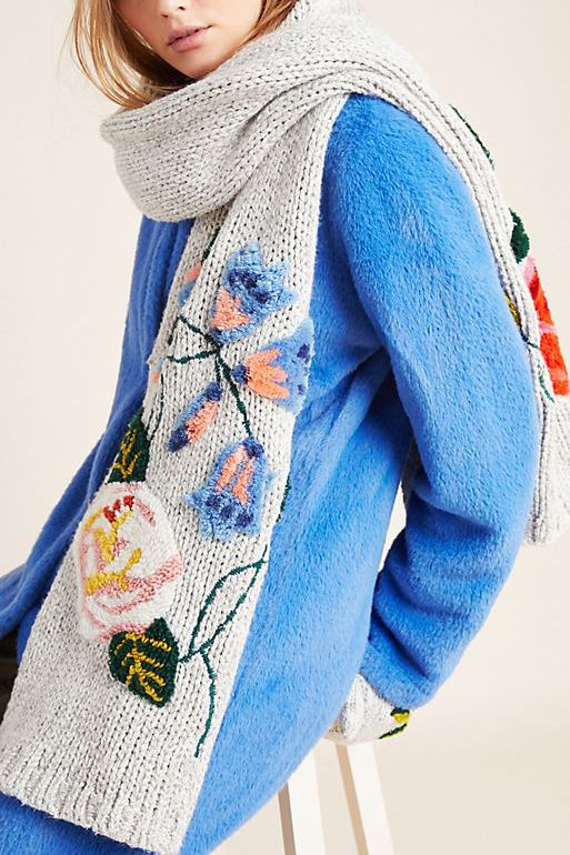 Nathalie Lete Luxembourg Embroidered Scarf
