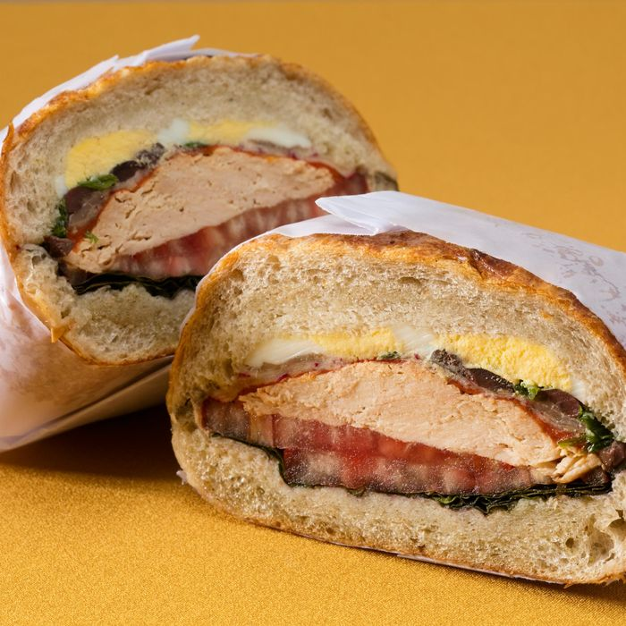 Shelsky's pan bagnat is a cross between a muffaletta and tuna niçoise.