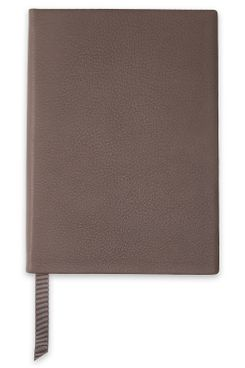 Smythson Pebbled-Leather Notebook (Taupe)