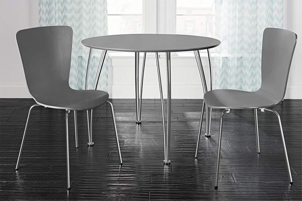 Novogratz Bentwood Dining Chair with Chrome Plated Legs