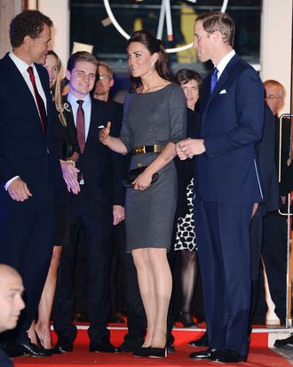 The Duke and Duchess of Cambridge arrive for the launch of the Imperial War Museum Foundation's First World War Galleries: Centenary Campaign at the Imperial War Museum in London, UK. <P> Pictured: The Duchess of Cambridge, Catherine, Kate Middleton and The Duke of Cambridge, Prince William <P><B>Ref: SPL386575 260412 </B><BR/> Picture by: James Whatling / Splash News<BR/> </P><P> <B>Splash News and Pictures</B><BR/> Los Angeles:310-821-2666<BR/> New York:212-619-2666<BR/> London:870-934-2666<BR/> photodesk@splashnews.com<BR/> </P>