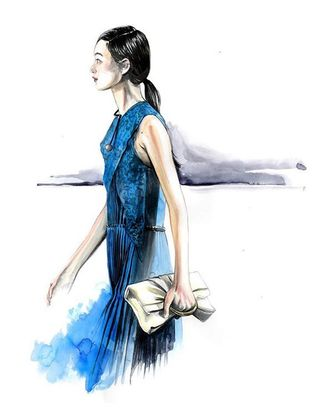 A sketch from Stella McCartney's fall collection.