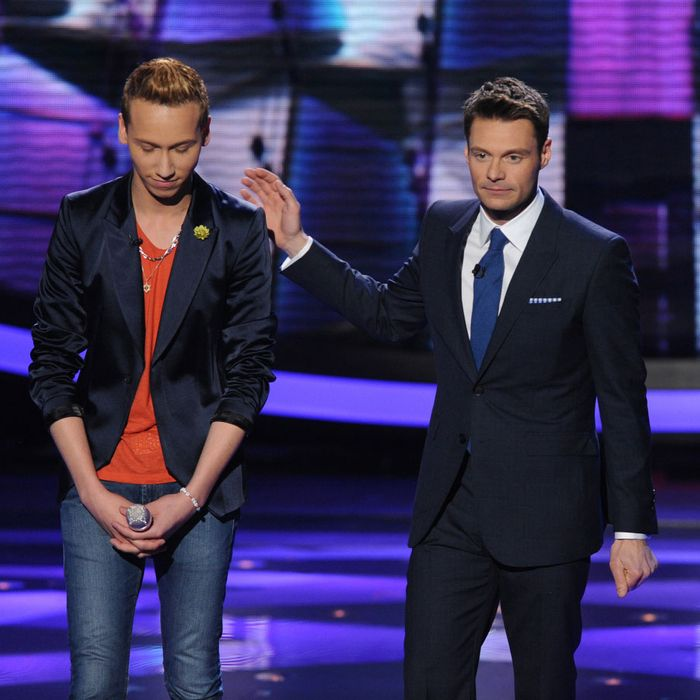 Devin Velez (L) is eliminated on AMERICAN IDOL
