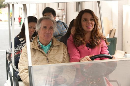 "UP ALL NIGHT -- ""Daddy Daughter Time"" Episode 121 -- Pictured: (l-r) Henry Winkler as Robert Alexander, Maya Rudolph as Ava Alexander."