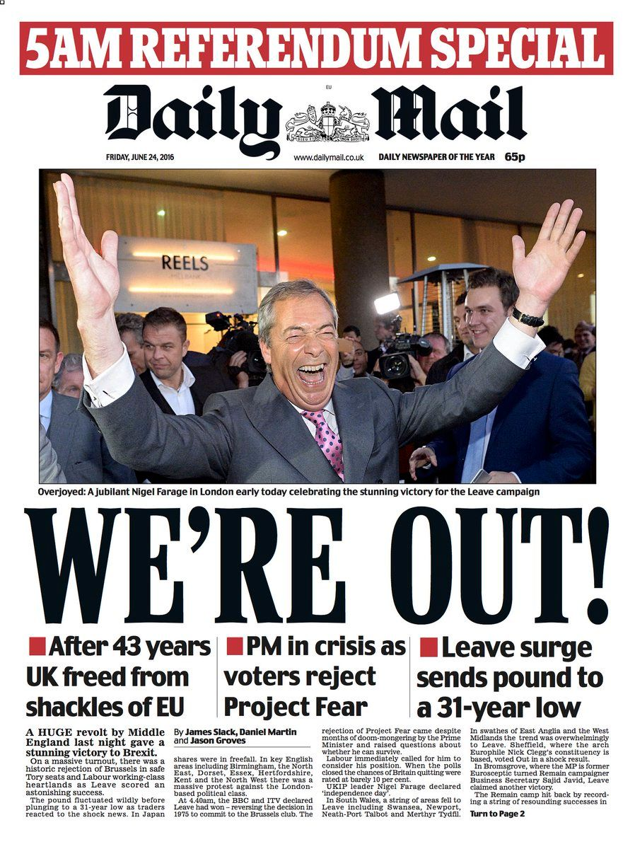 How Great Britain's Newspapers Are Covering Brexit