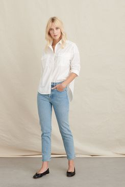 Alex Mill Keeper Oversized Button-Down in Paper Cotton