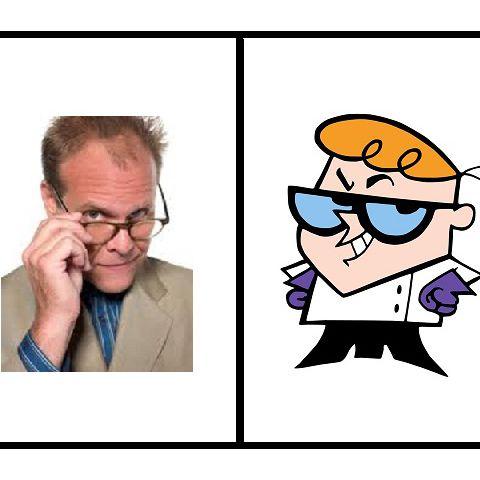 Alton Brown and Dexter.