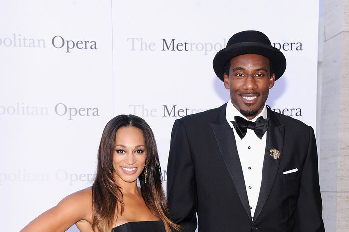 "Alexis Stoudemire and Amar'e Stoudemire attend the Metropolitan Opera Season Opening Production Of ""Eugene Onegin"" at The Metropolitan Opera House on September 23, 2013 in New York City."