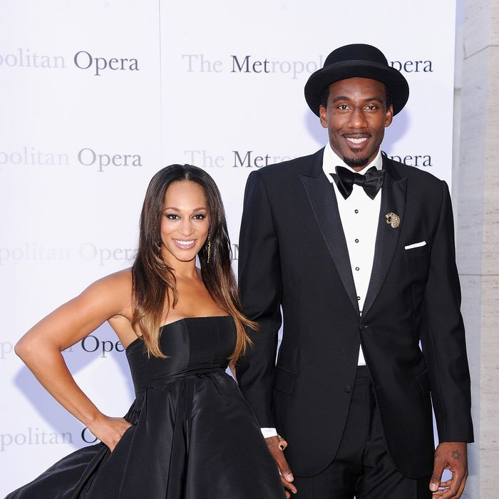 Alexis Stoudemire and Amar'e Stoudemire attend the Metropolitan Opera Season Opening Production Of