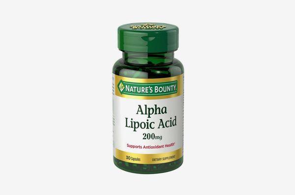 Nature's Bounty Alpha Lipoic Acid, 200 mg 30 Capsules