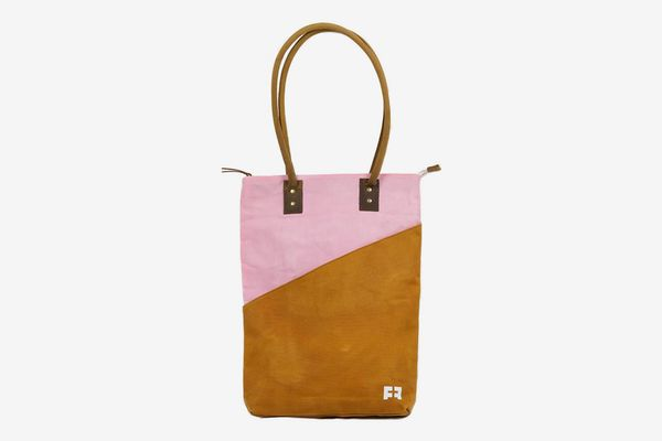 LargeFat Felt Joplin Tall Tote Waxed Canvas Tote Bag