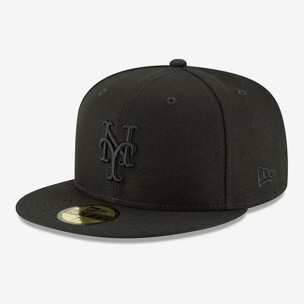 MLB Men's New York Mets New Era Black Primary Logo Basic Fitted Hat