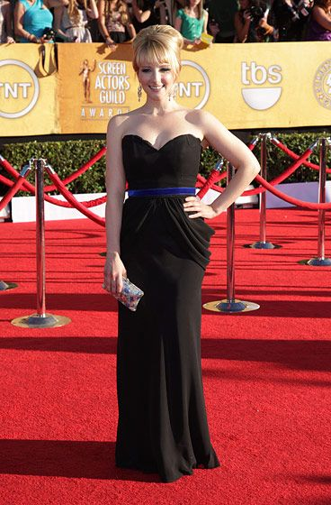 Celebrities arriving at the Screen Actors Guild Awards 2012 held at the Shrine Auditorium in Los Angeles, CA. <P> Pictured: Melissa Rauch <P><B>Ref: SPL355291  290112  </B><BR/> Picture by: Nate Beckett / Splash News<BR/> </P><P> <B>Splash News and Pictures</B><BR/> Los Angeles:310-821-2666<BR/> New York:212-619-2666<BR/> London:870-934-2666<BR/> photodesk@splashnews.com<BR/> </P>