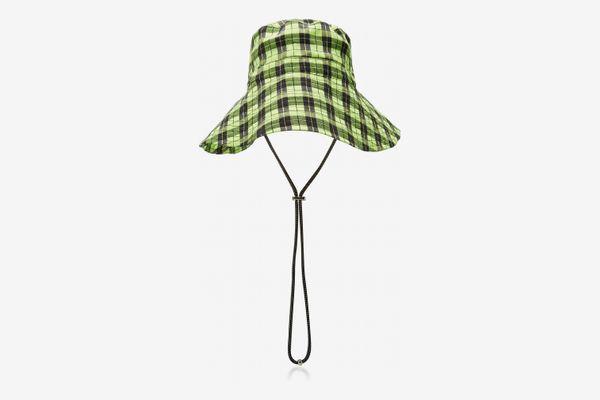 Ganni Seersucker Bucket Hat