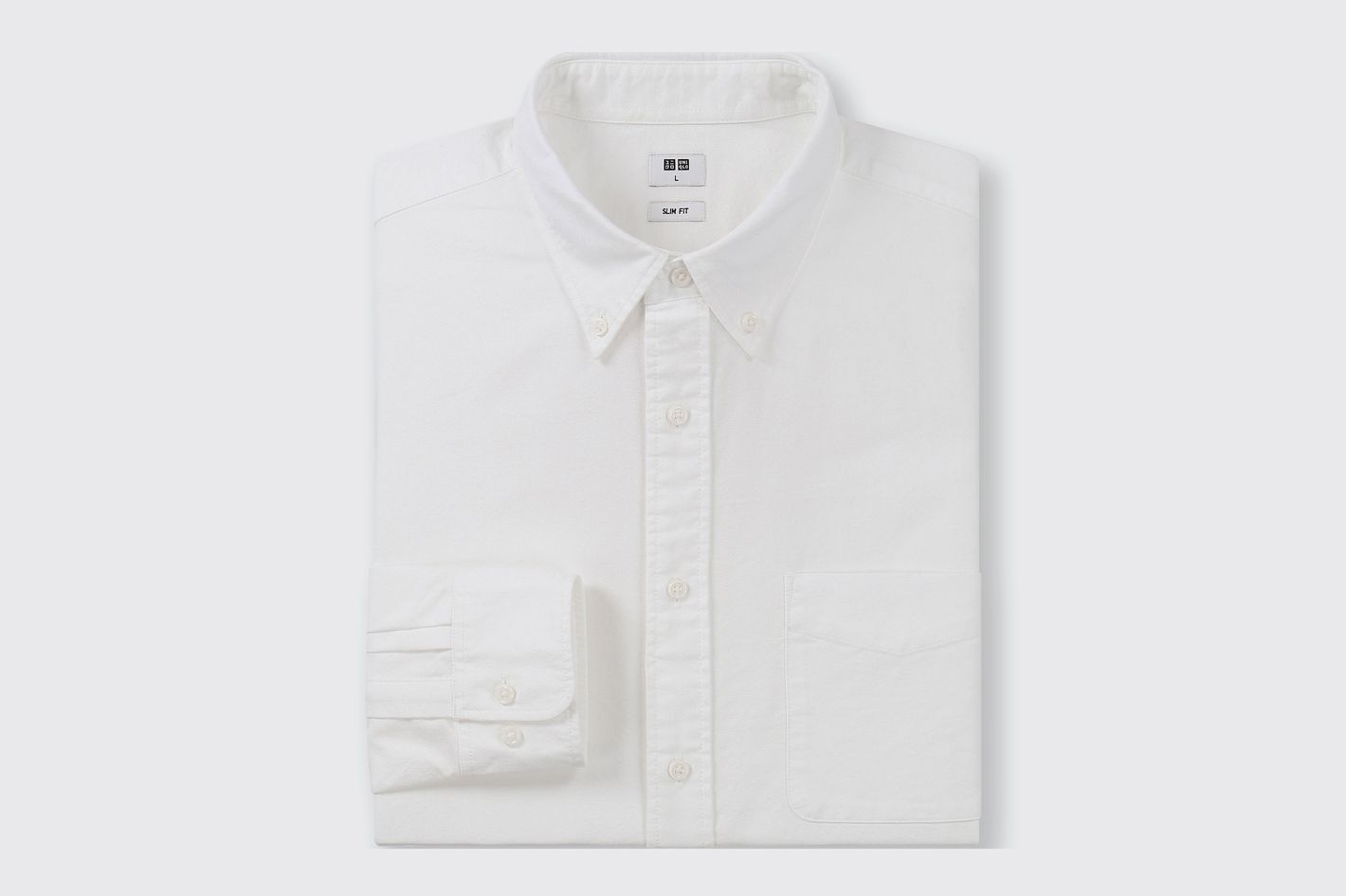 Uniqlo Men Oxford Slim-Fit Long-Sleeve Shirt