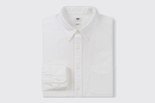 Uniqlo Men Oxford Slim-Fit Long-Sleeve Shirt