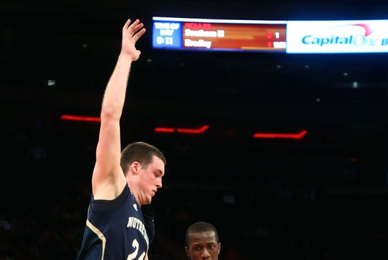 St. John's Phil Greene IV drives past Notre Dame's Pat Connaughton during the second half of the NCAA college basketball game, Tuesday, Jan. 15, 2013, at Madison Square Garden in New York. St. John's won 67-63.