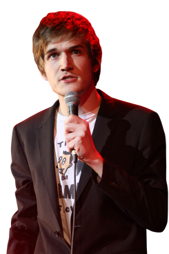 Musician Bo Burnham performs during the Second Annual Hilarity For Charity benefiting The Alzheimer's Association at the Avalon on April 25, 2013 in Hollywood, California.