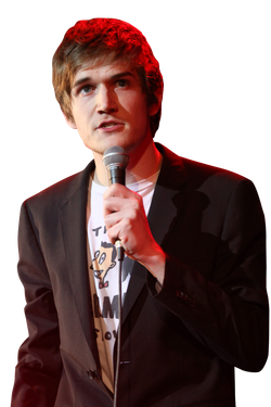 HOLLYWOOD, CA - APRIL 25:  Musician Bo Burnham performs during the Second Annual Hilarity For Charity benefiting The Alzheimer's Association at the Avalon on April 25, 2013 in Hollywood, California.  (Photo by Chelsea Lauren/Getty Images for Hilarity for Charity)