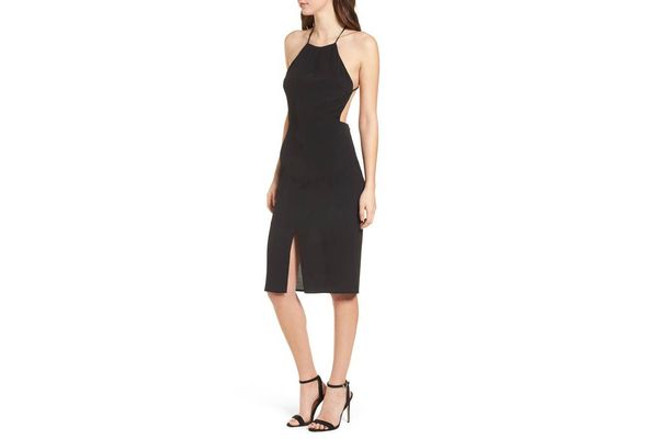 4SI3NNA Backless Sheath Dress