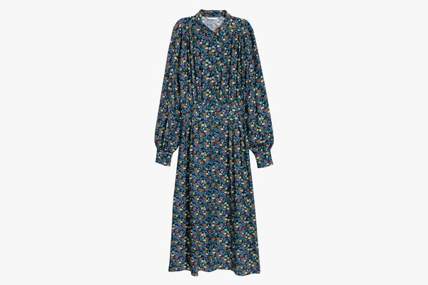 Long-Sleeve Floral Prairie Dress