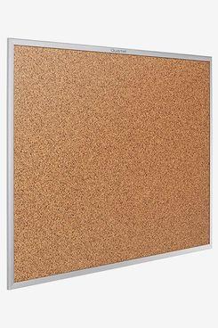 Quartet Cork Board, Bulletin Board, 5' x 3' Corkboard, Aluminum Frame