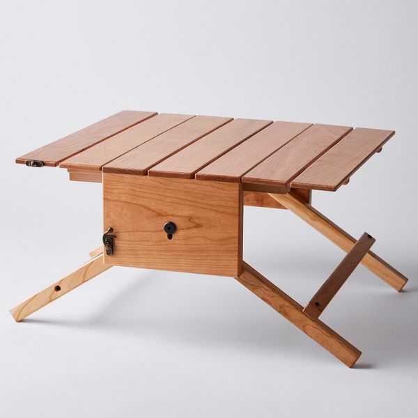 Mikel Customs Fold-Up Wooden Picnic Table & Carrier