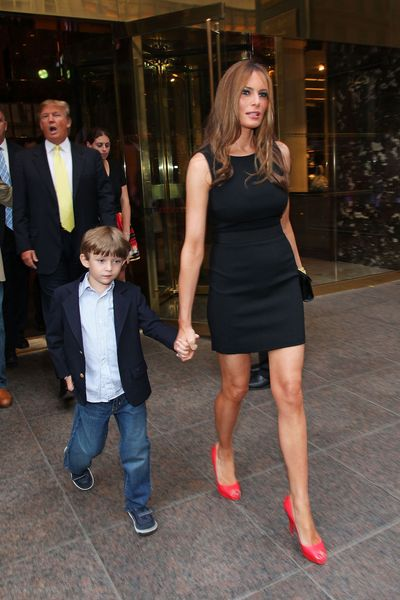 Melania Trump's Son, 7, Gets Slathered in Caviar Cream Images ...