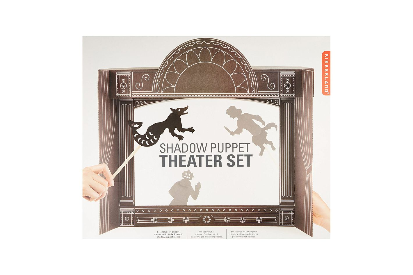 Kikkerland Shadow Puppet Theater Set