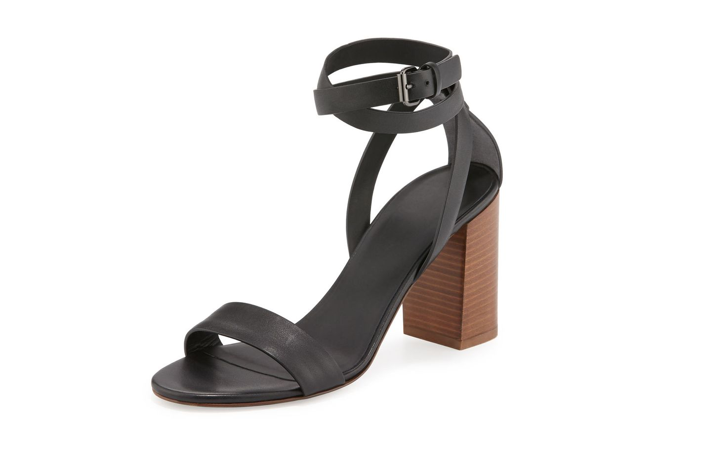 Vince Farley Ankle-Wrap Block-Heel Sandal