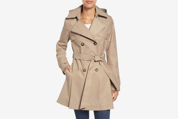 Halogen Detachable Hood Trench Coat