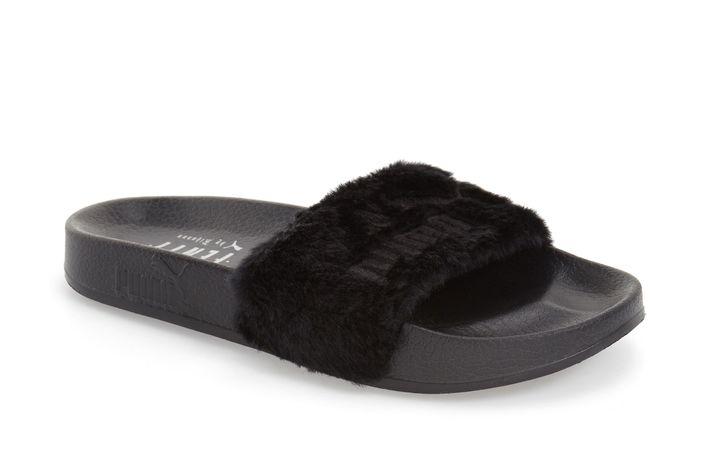3faf33dfe62c Important  Nordstrom Has Restocked Rihanna s Fur Slides