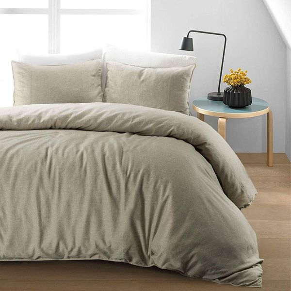 Pure Natural Flax Fibre Linen Blend Duvet Cover