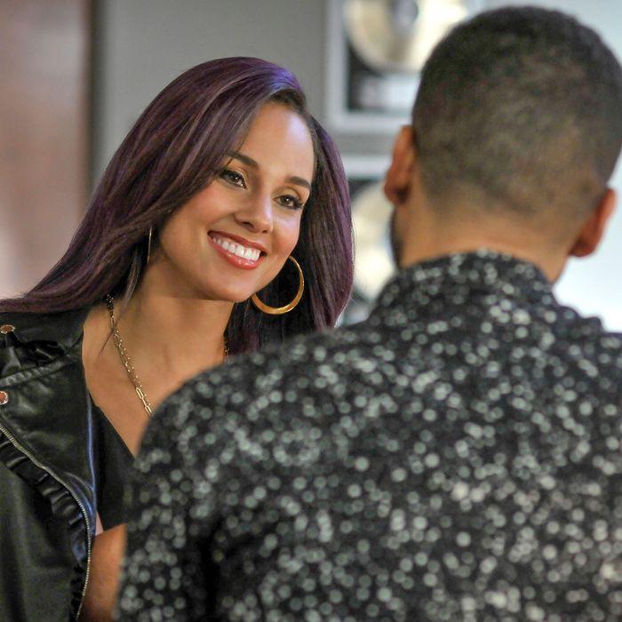 "EMPIRE: L-R: Guest star Alicia Keys and Jussie Smollett in the ""Et Tu, Brute?"" fall finale episode of EMPIRE airing Wednesday, Dec. 2 (9:00-10:00 PM ET/PT) on FOX. ©2015 Fox Broadcasting Co. Cr: Matt Dinnerstein/FOX."