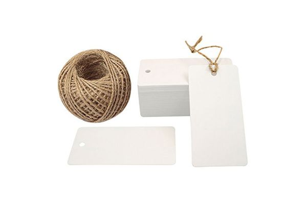 Kraft Paper Gift Tag With Jute Twine String