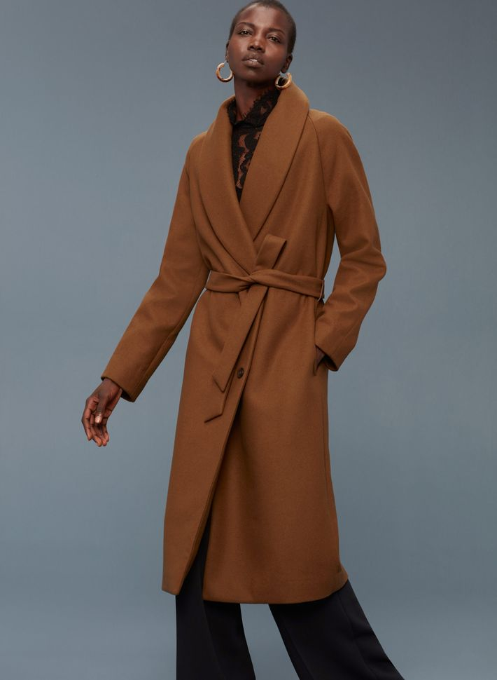 fe121710919 This coat from Aritzia is a favorite of the bunch since it combines wide  lapels