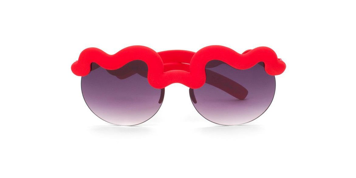 Zero UV Red Squiggle Sunglasses